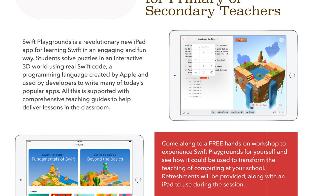 Swift Playgrounds workshop – Chesterfield School